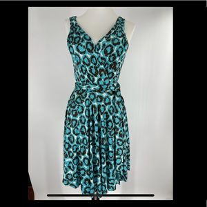 DVF sleeveless wrap dress Y2K vintage size 4